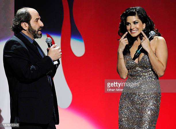 Comedian Dave Attell and adult film actress Sunny Leone host the 29th annual Adult Video News Awards Show at The Joint inside the Hard Rock Hotel...