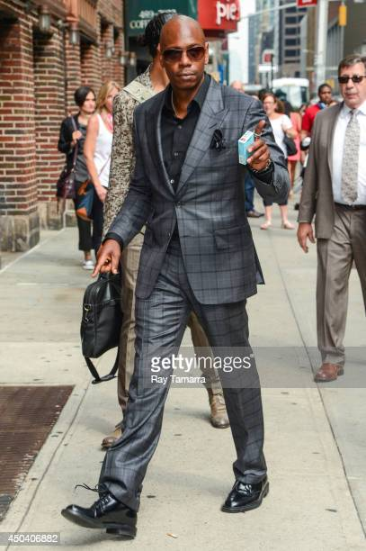 Comedian Dave Chapelle enters the 'Late Show With David Letterman' taping at the Ed Sullivan Theater on June 10 2014 in New York City