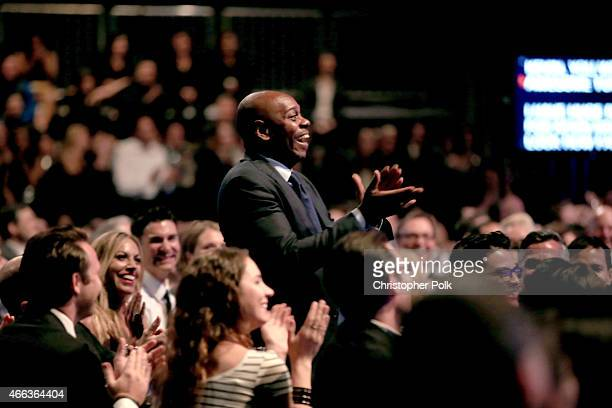 Comedian Dave Chapelle in the audience at The Comedy Central Roast of Justin Bieber at Sony Pictures Studios on March 14 2015 in Los Angeles...