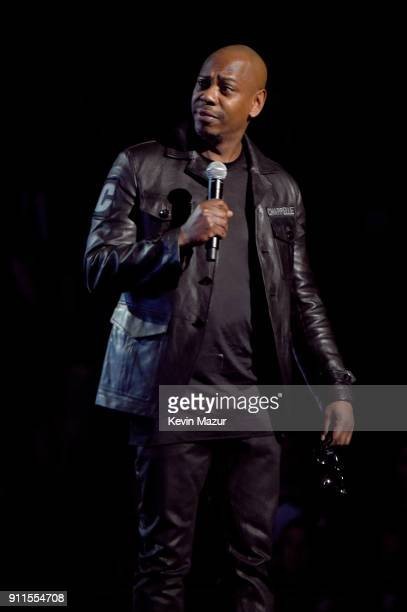 Comedian Dave Chapelle speaks on stage during the 60th Annual GRAMMY Awards at Madison Square Garden on January 28, 2018 in New York City.