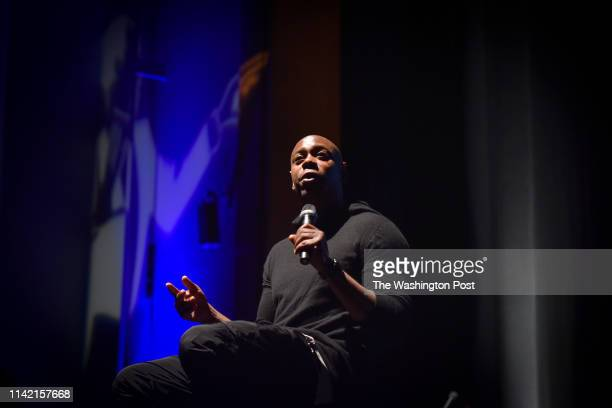Comedian Dave Chappelle addresses the student body and faculty at Duke Ellington School of the Arts on Friday September 29 in Washington DC Mayor...