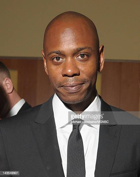 Comedian Dave Chappelle attends MSNBC After Party event for the White House Correspondents Association Dinner at Italian Embassy on April 28 2012 in...