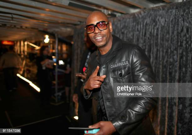 Comedian Dave Chappelle attends the 60th Annual GRAMMY Awards at Madison Square Garden on January 28 2018 in New York City
