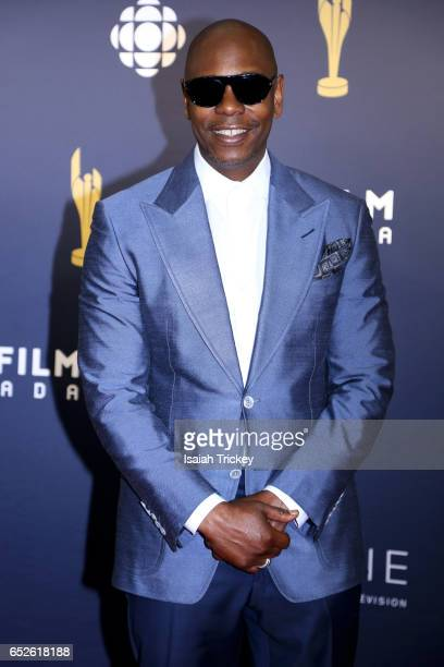 Comedian Dave Chappelle attends the Academy of Canadian Cinema Television's 2017 Canadian Screen Awards at the Sony Centre for Performing Arts on...