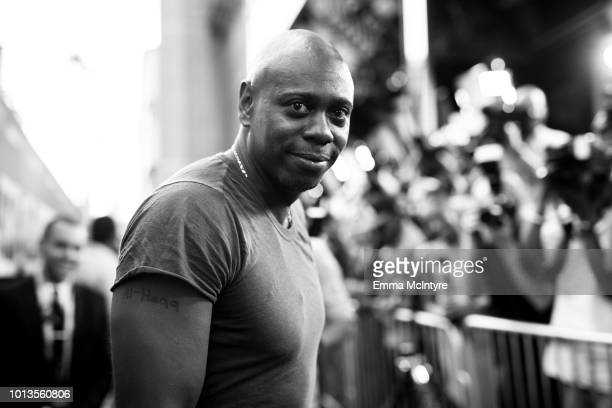 Comedian Dave Chappelle attends the premiere of Focus Features' 'BlaKkKlansman' at Samuel Goldwyn Theater on August 8 2018 in Beverly Hills California