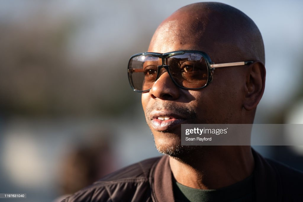 Dave Chappelle Canvassing For Andrew Yang : News Photo