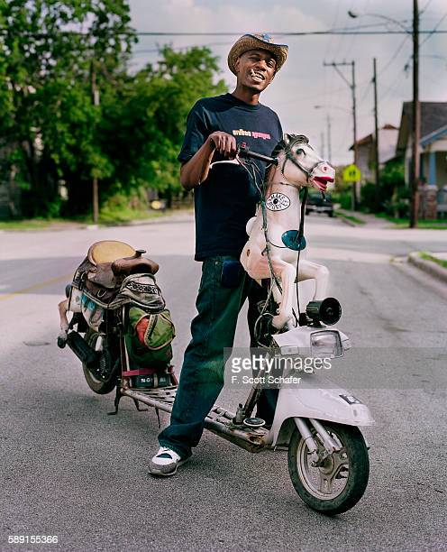 Comedian Dave Chappelle is photographed for Blender Magazine in 2004 Jeans by True Religion Shoes by Nike Styling by Deborah Ferguson for...