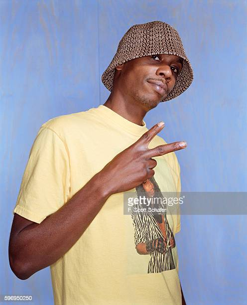 Comedian Dave Chappelle is photographed for Blender Magazine in 2004 Customized tshirt by Deborah Ferguson Styling by Deborah Ferguson for...