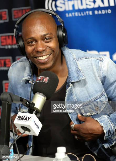 Comedian Dave Chappelle visits 'Sway in the Morning' with Sway Calloway on Eminem's Shade 45 at SiriusXM Studio on June 29 2017 in New York City