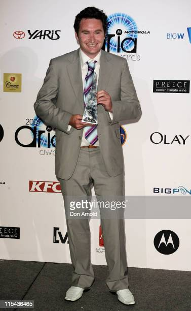 Comedian Dave Hughes accepts the award for Best Comedy Release at the 2007 ARIA Awards at Acer Arena on October 28, 2007 in Sydney, Australia. The...