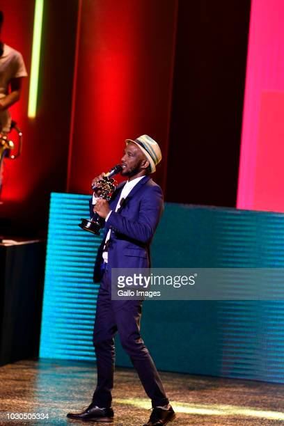 Comedian David Kau wins award during the 2018 Savanna Comics Choice Awards at the Lyric Theatre on September 08 2018 in Johannesburg South Africa Now...