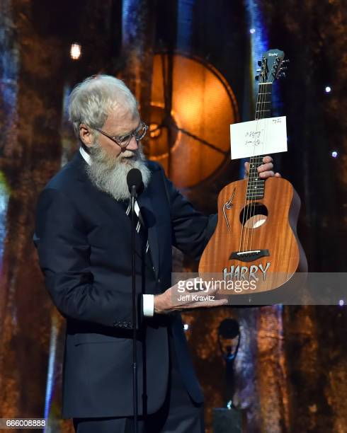 Comedian David Letterman speaks onstage at the 32nd Annual Rock Roll Hall Of Fame Induction Ceremony at Barclays Center on April 7 2017 in New York...