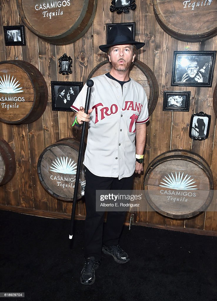 Comedian David Spade arrives to the Casamigos Halloween Party at a private residence on October 28, 2016 in Beverly Hills, California.