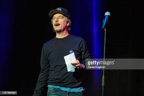 Comedian David Spade performs on stage at Balboa Theater on February 21 2020 in San Diego California
