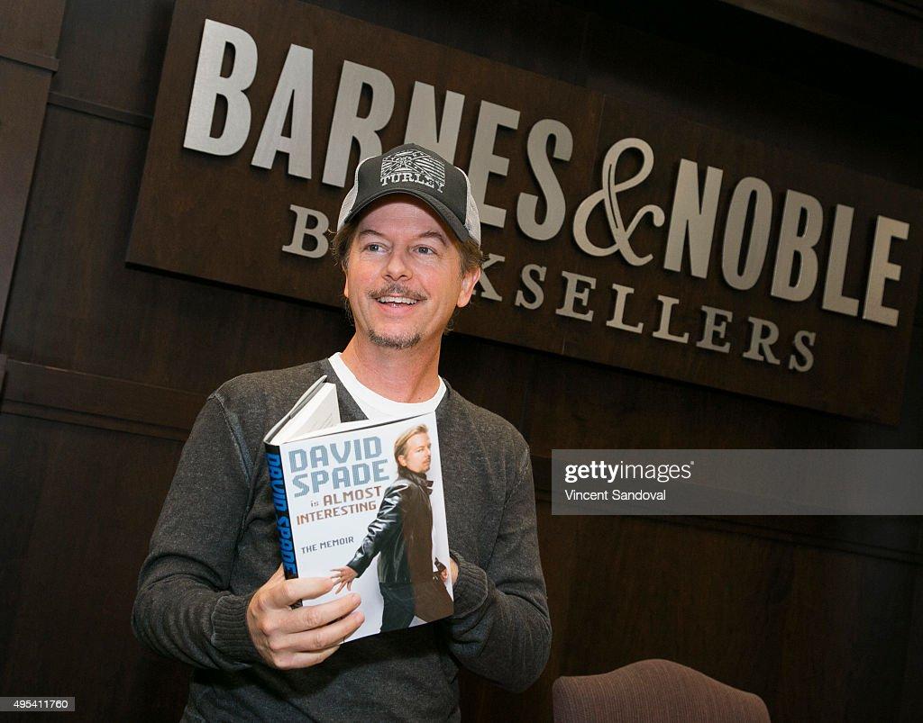 """David Spade Signs Copies Of His Memoir """"Almost Interesting"""""""