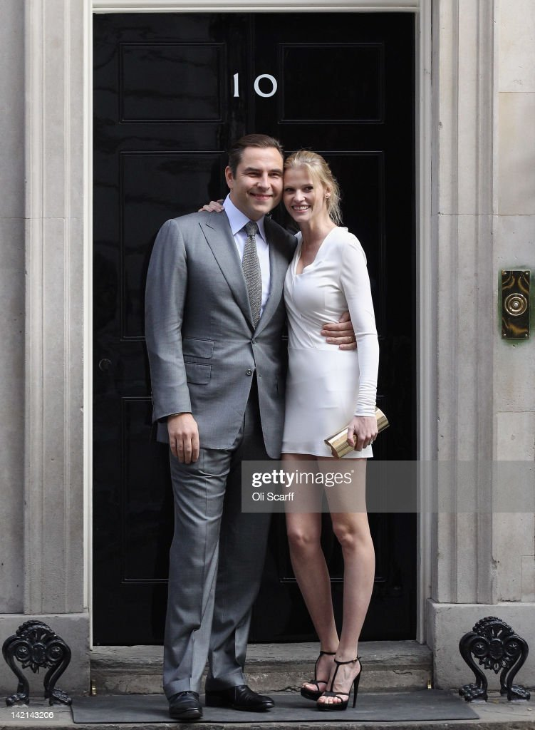 Comedian David Walliams and his wife supermodel Lara Stone arrive at Number 10 Downing Street on March 30, 2012 in London, England. Mr Walliams and celebrities Josh Lewsey, Helen Skelton and John Bishop met with British Prime Minister David Cameron to discuss their individual efforts to raise money for the Sport Relief.