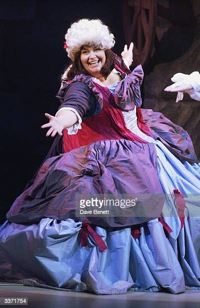 Comedian Dawn French performs in 'The Play What I Wrote' at Wyndhams Theatre on 17th January 2002 in London