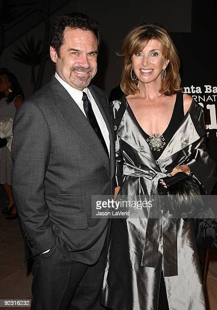 Comedian Dennis Miller and Carolyn Ali Espley attend Santa Barbara International Film Festival's Kirk Douglas Award gala at Biltmore Four Seasons...