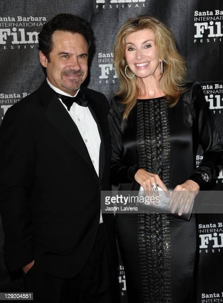 Comedian Dennis Miller and wife Carolyn Ali Espley attend Santa Barbara International Film Festival's 6th annual Kirk Douglas Award for Excellence in...