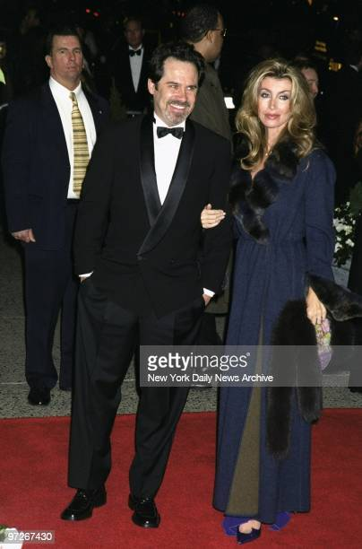Comedian Dennis Miller is on hand at the Plaza Hotel for the wedding of Michael Douglas and Catherine ZetaJones