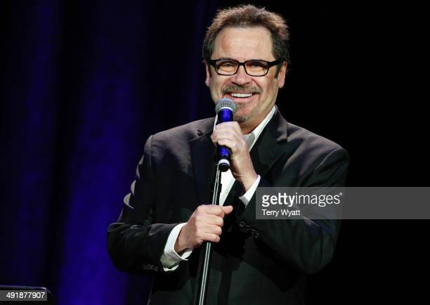 Comedian Dennis Miller performs at the Bud Light Presents Wild West Comedy Festival on May 17 2014 in Nashville Tennessee
