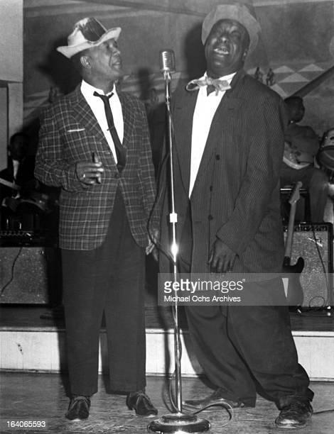 Comedian Dewey 'Pigmeat' Markham performs circa 1960.