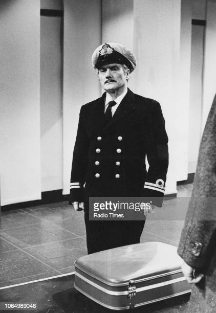 Comedian Dick Emery dressed as a pilot in an airport sketch from the television series 'The Dick Emery Show' January 8th 1971