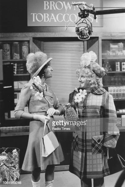 Comedian Dick Emery dressed in drag in the matrimonial stakes sketch from the television series 'The Dick Emery Show' November 25th 1971