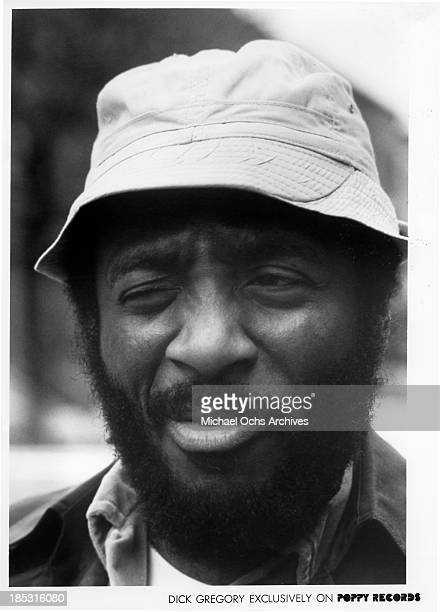 Comedian Dick Gregory poses for a Poppy Records portrait in circa 1970
