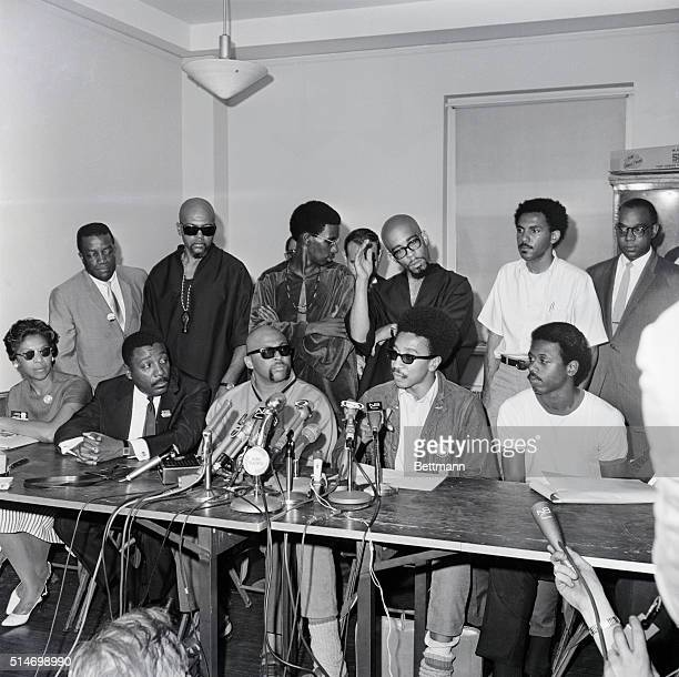 Comedian Dick Gregory Ron Karenga leader of the Black Nationalist Cultural Organization of the US H Rap Brown national chairman of the Student...