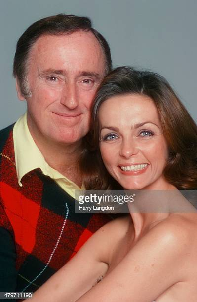 Comedian Dick Martin and wife actress Dolly Reed pose for a portrait in 1977 in Los Angeles California