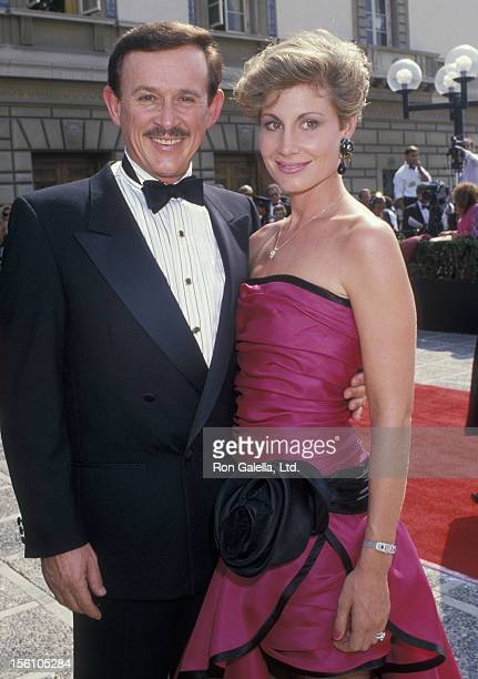 Comedian Dick Smothers and wife Lorraine Martin attending 40th Annual Primetime Emmy Awards on August 28 1988 at the Pasadena Civic Auditorium in...