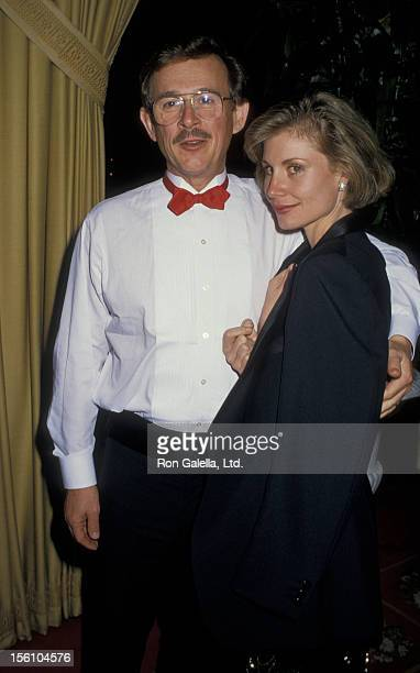 Comedian Dick Smothers and wife Lorraine Martin attending'Entertainment Industry Council Dinner Honoring Bud Grant' on November 24 1987 at the...