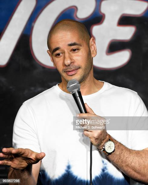 Comedian Dino Vigo performs during his appearance at The Ice House Comedy Club on July 7 2018 in Pasadena California