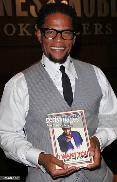 Comedian DL Hughley attends a signing for his book 'I Want You to Shut the F#ck Up' at Barnes Noble at The Grove on August 9 2012 in Los Angeles...
