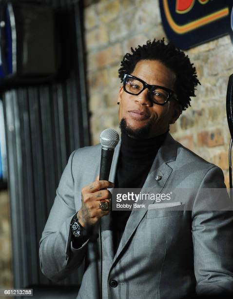 Comedian DL Hughley performs at The Stress Factory Comedy Club on March 30 2017 in New Brunswick New Jersey
