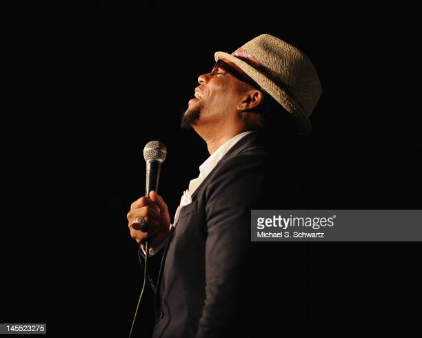 Comedian D.L. Hughley performs during his appearance at The Ice House Comedy Club on May 31, 2012 in Pasadena, California.