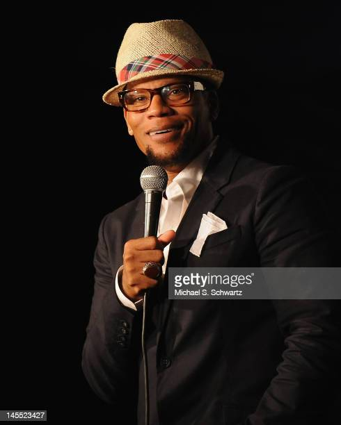 Comedian DL Hughley performs during his appearance at The Ice House Comedy Club on May 31 2012 in Pasadena California