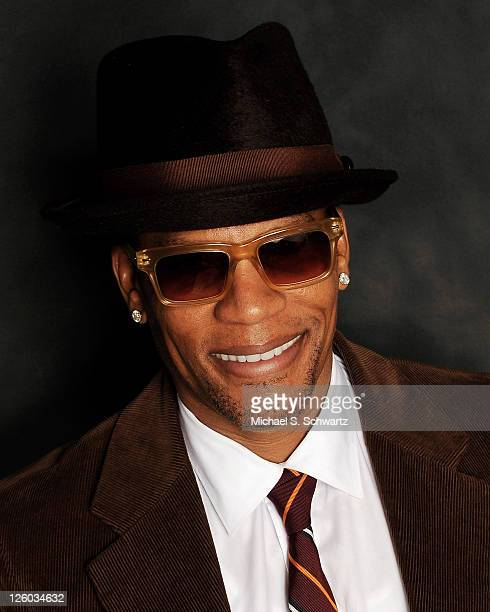 Comedian DL Hughley poses at The Ice House Comedy Club on January 11 2011 in Pasadena California