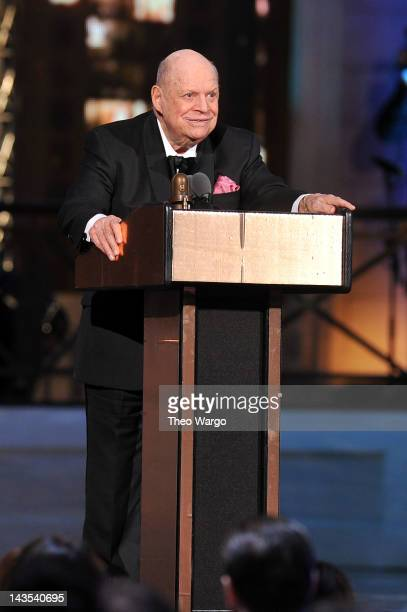 Comedian Don Rickles accepts an award onstage at The Comedy Awards 2012 at Hammerstein Ballroom on April 28 2012 in New York City