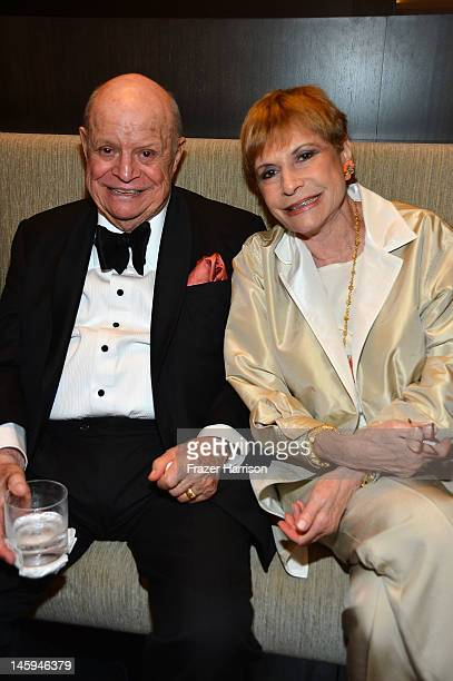 Comedian Don Rickles and Barbara Rickles attend the after party for the 40th AFI Life Achievement Award honoring Shirley MacLaine held at Sony...