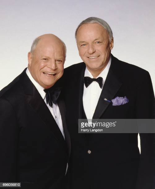 Comedian Don Rickles and Frank Sinatra pose for a portrait in 1985 in Los Angeles California