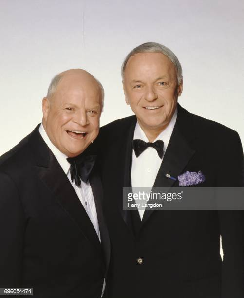 Comedian Don Rickles and Frank Sinatra pose for a portrait in 19985 in Los Angeles California