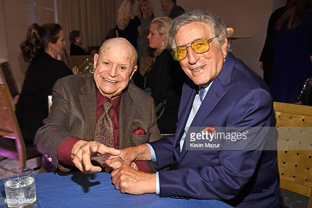 Comedian Don Rickles and singer Tony Bennett attend the 10th Annual Exploring The Arts Gala at Radio City Music Hall on September 15 2016 in New York...