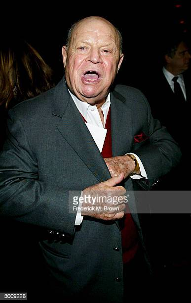 Comedian Don Rickles attends the film premiere of 'Twisted' on February 23 2004 at Paramount Pictures in Hollywood California