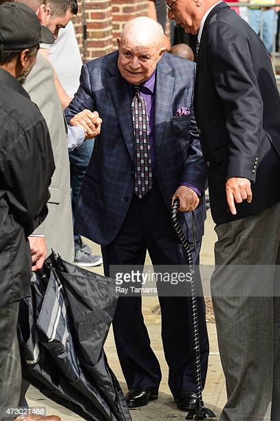 Comedian Don Rickles enters the 'Late Show With David Letterman' taping at the Ed Sullivan Theater on May 11 2015 in New York City