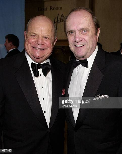 Comedian Don Rickles left and actor Bob Newhart arrive at The Carousel of Hope Ball benefiting The Barbara Davis Center for Childhood Diabetes...