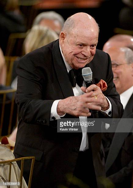 Comedian Don Rickles speaks at the 40th AFI Life Achievement Award honoring Shirley MacLaine held at Sony Pictures Studios on June 7 2012 in Culver...
