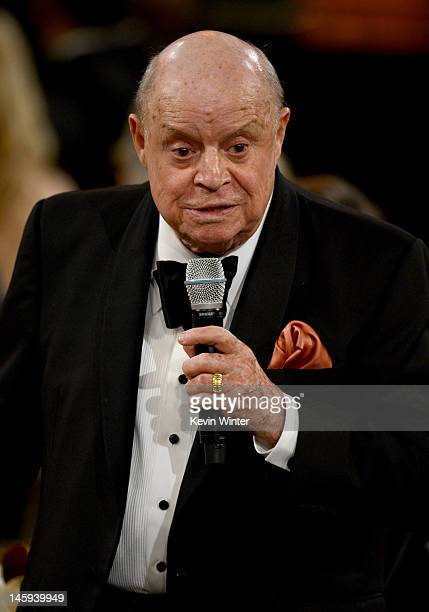 Comedian Don Rickles speaks the 40th AFI Life Achievement Award honoring Shirley MacLaine held at Sony Pictures Studios on June 7 2012 in Culver City...