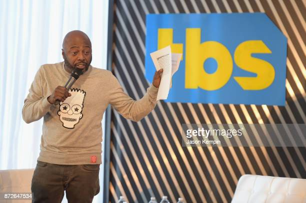 Comedian Donnell Rawlings speaks onstage during TBS Comedy Festival 2017 TBS All Def Digital Present Comedy Content Kings Panel on November 10 2017...